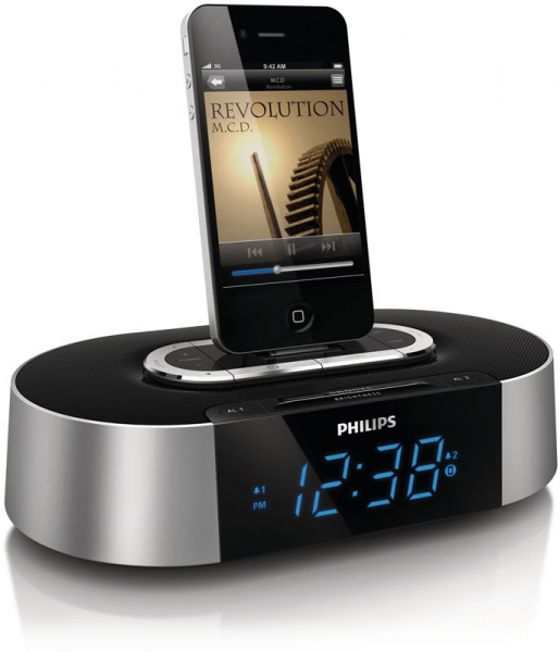 ... 30-Pin iPod/iPhone Alarm Clock Speaker Dock: MP3 Players & Accessories