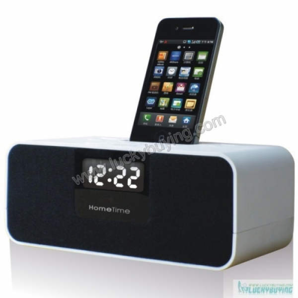 apple iphone clock radio iphone alarm clocks www top clocks com. Black Bedroom Furniture Sets. Home Design Ideas