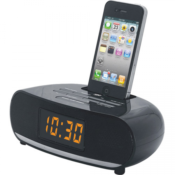 ... Digital Alarm Clock Radio with Dock for IPod and IPhone - Walmart.com