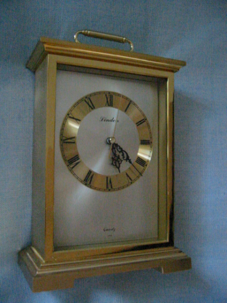 Linden Japan Charming brass carriage clock, Large Roman numbers, quite ...
