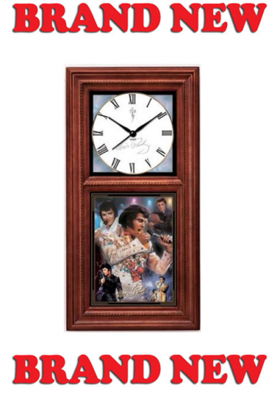 Elvis Presley Collectible for All Time Wall Clock w Certificate of ...