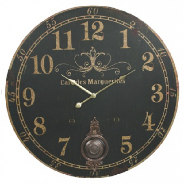Cafe Des Marguerites Wall Clock