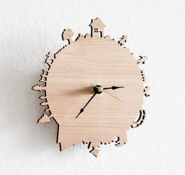 Home Sweet Home Modern Wall Clock by from iluxo on Etsy | dream