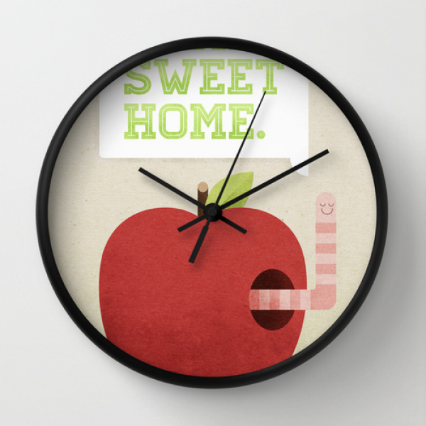 Home Sweet Home Wall Clock by Chase Kunz | Society6