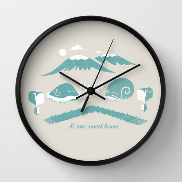 Home Sweet Home Wall Clock by Bajibaj | Society6