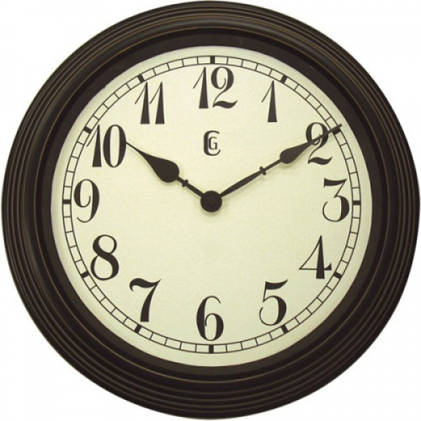 Geneva Decor Clocks 4671G 15 Plastic Wall Clock with Weathered Finish ...
