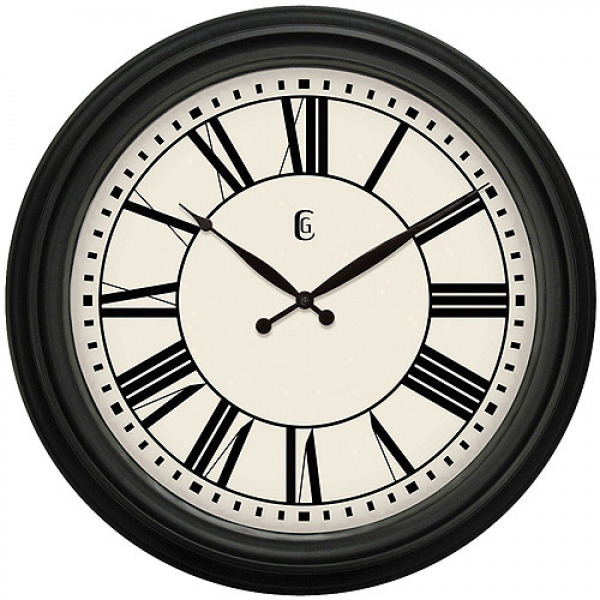 Geneva Decor Clocks 24 Plastic Wall Clock, Matte - Walmart.com