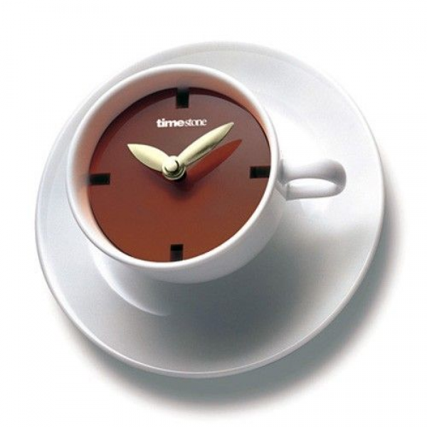 Coffee Cup Time Wall Clock ~ soup in a cup that looks like this, too!