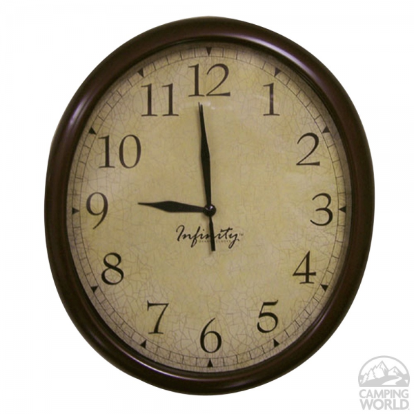 Infinity Oval Quartz Wall Clock - ITC 32040TF-CF-D - Furnishing ...