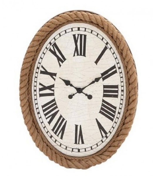 Home » Clocks » Nautical Rope Oval Wall Clock