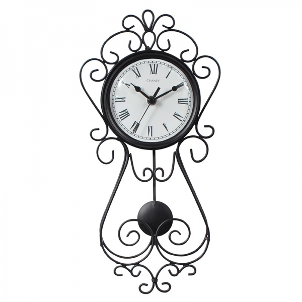 Chaney 16.5-inch Decorative Wrought Iron Metal Wall Clock 75374
