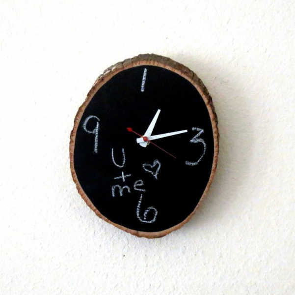 Wood Wall Clock, Home and Living, Chalkboard Clock, Decor & Houseware ...