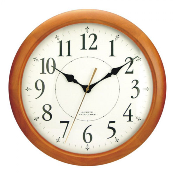 Quartz Wooden Wall Clock (F6416A) - China Wall Clock, Clock