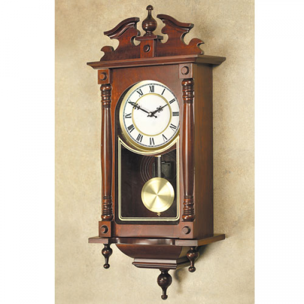 Quartz Solid Wood Heirloom Wall Clock Model# YW046Q