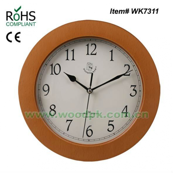 Quartz pine wood hanging clocks wall bracket clock, View wall clock ...