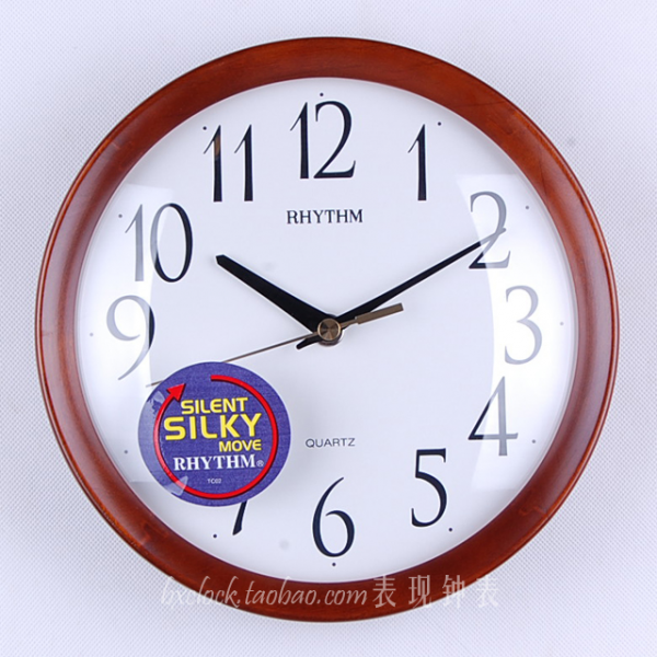 ... wood-wall-clock-silent-small-round-quartz-clock-and-watch-rhythm-clock