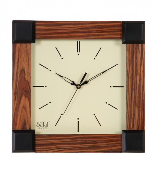 Quartz Wooden Border Wall Clock by Safal Quartz Online - Wall Clocks ...