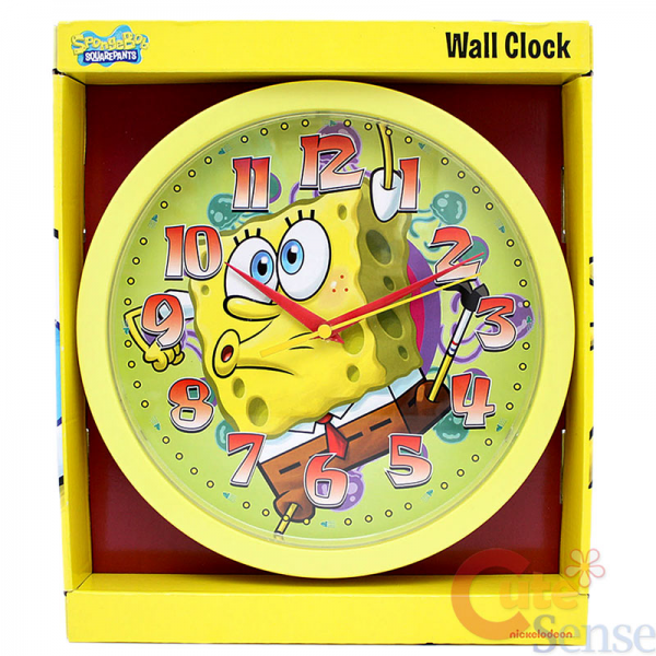 Details about Nick SpongeBob Squarepants Wall Clock 10 Round Watch