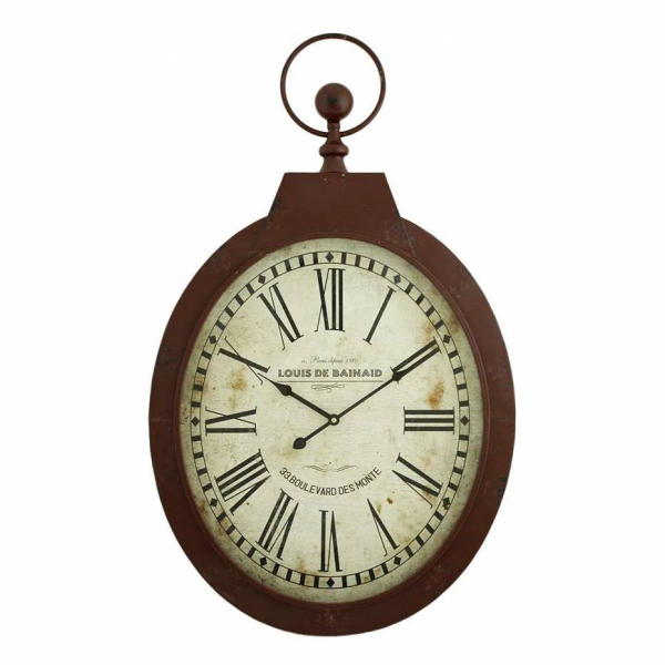 Aspire Aspire Louis Oval Wall Clock, Red - 5681 - Pricefalls.com