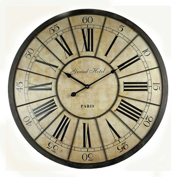 Wall Clock 'Grand Hotel Paris'