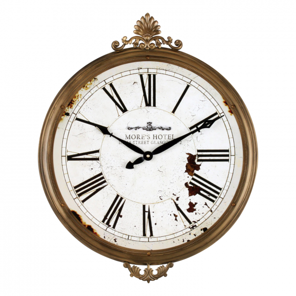 French Country Chic Distressed Wall Clock | ACHICA