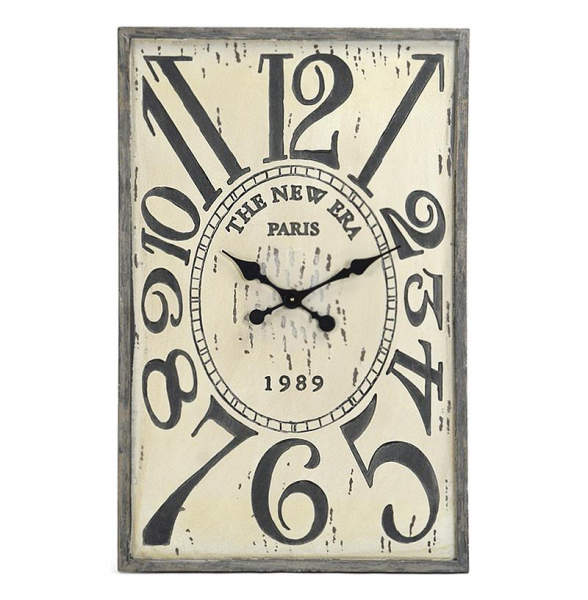 French Country Vintage Wood Hanging Wall Clock