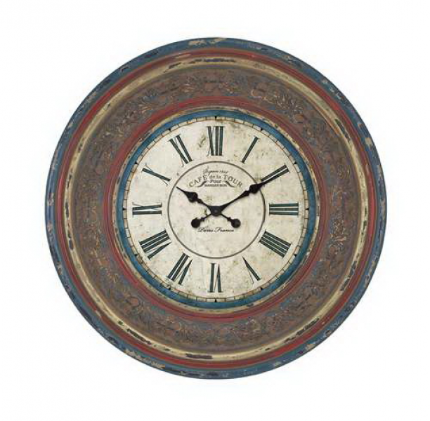 woodland 89239 wood wall clock with large roman numerals by woodland ...