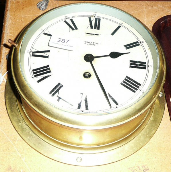 Tennants Auctioneers: A brass ships wall clock 'Smiths Astral'