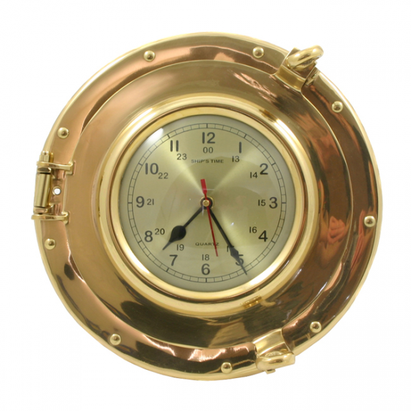 Details about SAILOR'S BRASS SHIP PORTHOLE NAUTICAL WALL CLOCK $175