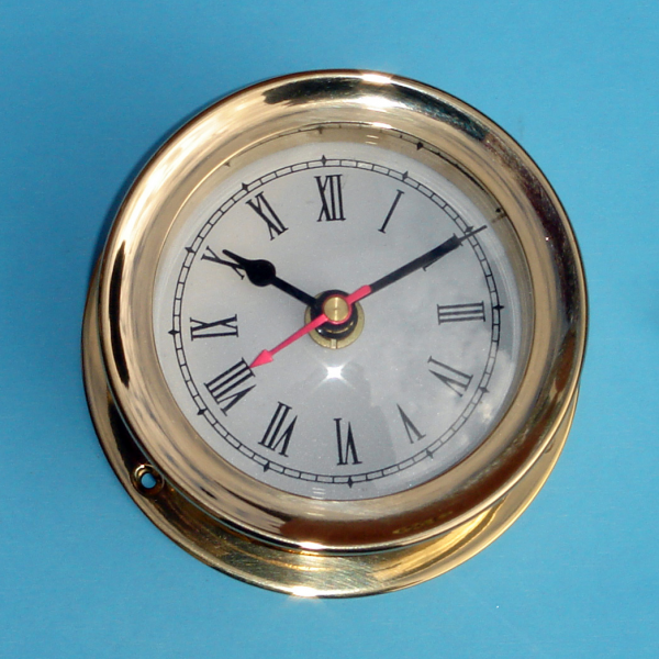 Details about vintage maritime ship's SOLID BRASS GIMBALS SHIPS CLOCK