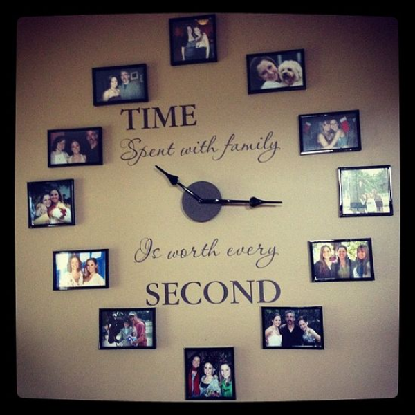 "Time spent with family is worth every second"" wall clock 