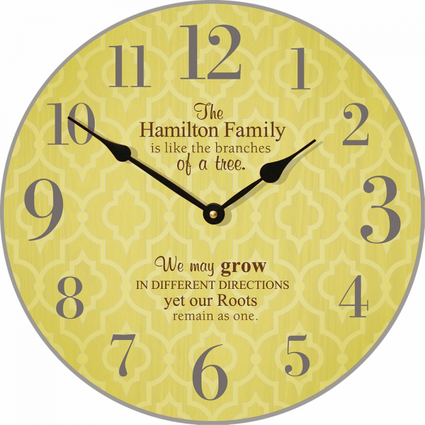 Home > Home Goods > Clocks > Family Tree Personalized Wall Clock