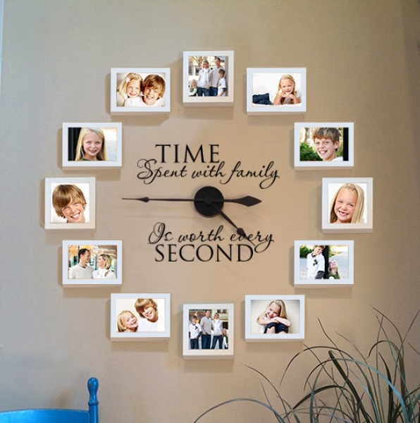 Creative Story Tree: Time Spent With Family Clock