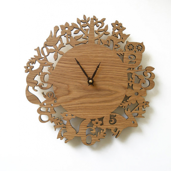 Wooden Clock Ideas with Animal Themed | Home Design And Interior