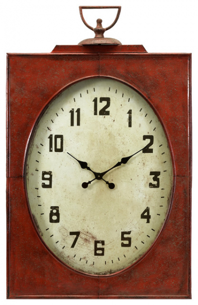 Country style red wall clocks decorative wall clocks - Country style wall clocks ...