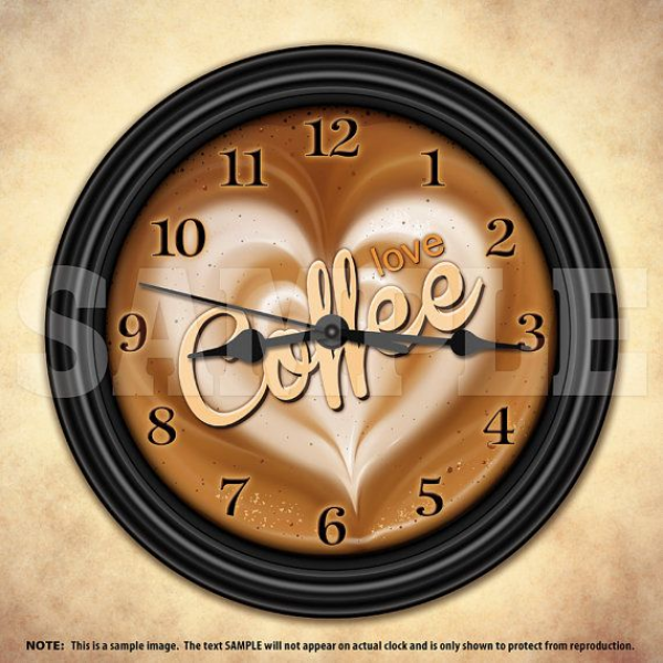 Coffee decor wall clocks decorative wall clocks www top clocks com - Coffee themed wall clocks ...