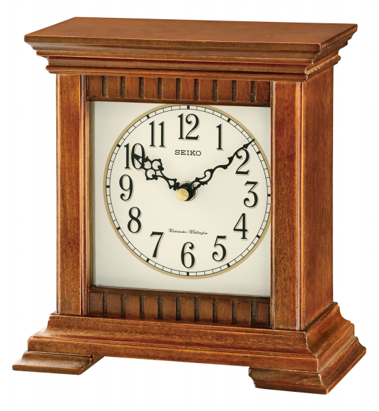 Seiko SAWYER Traditional Desk and Table Clock w/ Chimes, QXJ028BLH ...