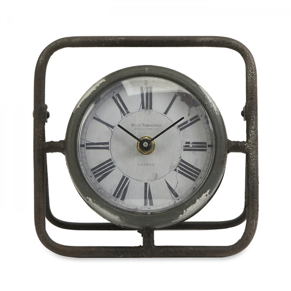 IMAX Worldwide 74200 Baron Small Antique Table Clock | ATG Stores