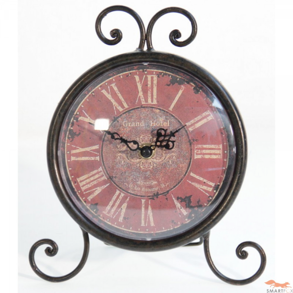 Metal Scroll Table Clock - Small