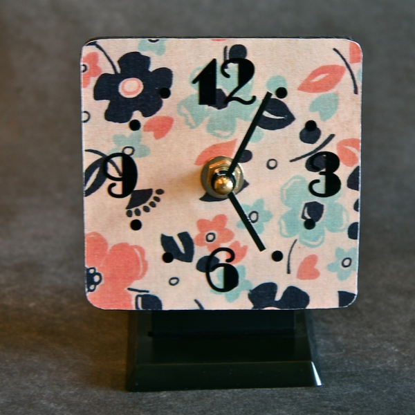 Home / home goods / vintage fabric desktop clock