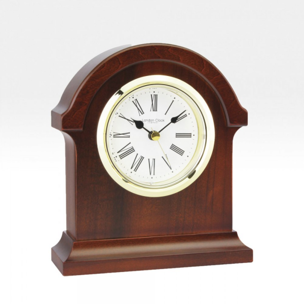 ... › Clocks › LONDON CLOCK › LONDON CLOCK Dark Wood Mantel Clock