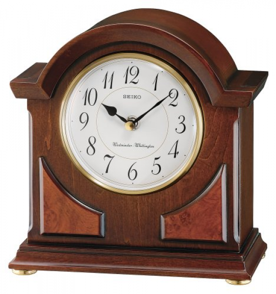 ... Mantel Chime Clock Brown Wooden Case | Seiko Mantel Chime Clock Brown
