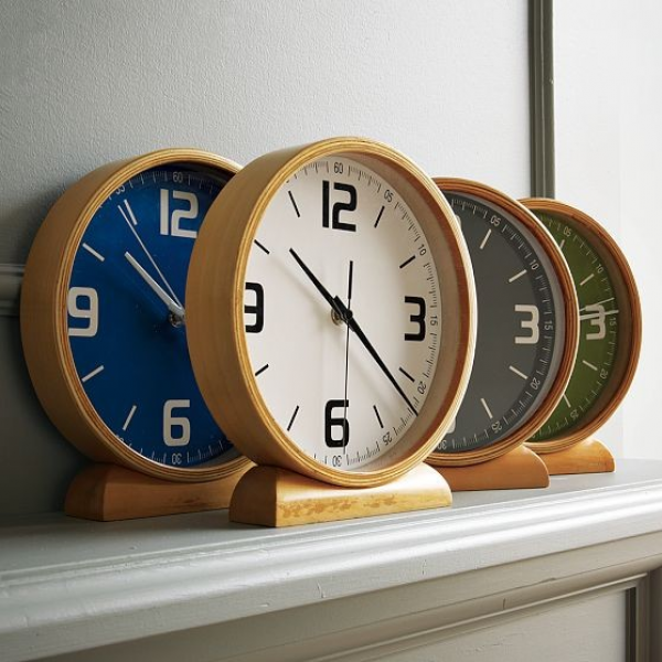 Wood Mantle Clocks - Modern - Clocks - by West Elm