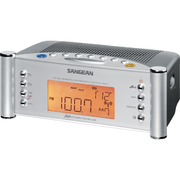 ... FM Digital Atomic Clock Dual Alarms Modern Style Kitchen Radio | eBay