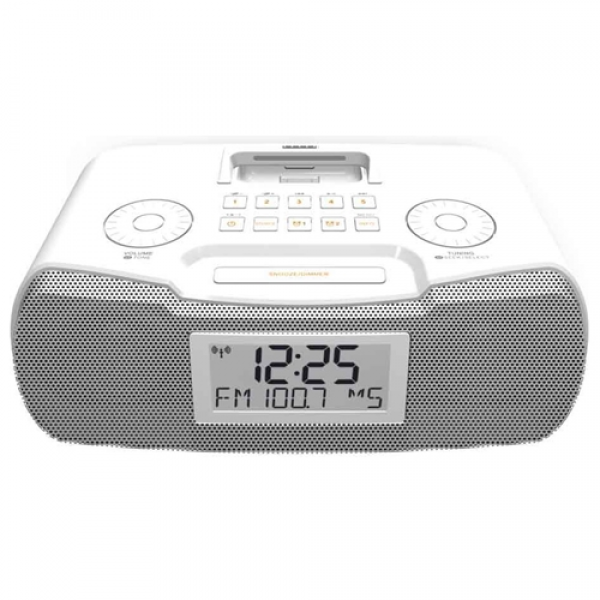 clock radio sangean america inc rcr 10 white rcr 10 atomic clock radio ...