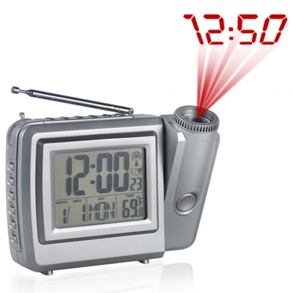 Atomic Projection Clock With Radio Model# C-C312AR