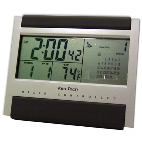 Atomic Radio Controlled LCD Alarm Clock - dorm alarm clocks dorm room ...