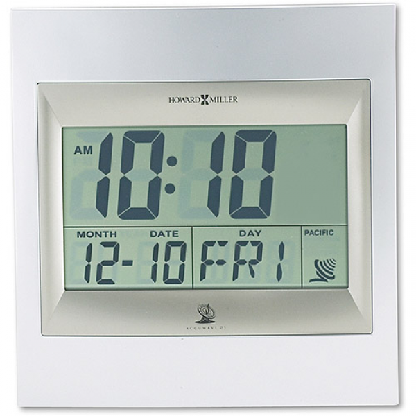 ... Miller Radio Control TechTime II LCD Wall/Table Alarm Clock, Silver