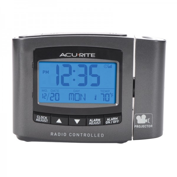 Acu-Rite Atomic Projection Clock with Indoor Temperature 13239