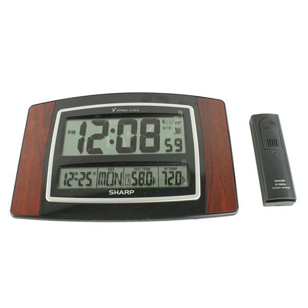 The Sharp SPC900WG Atomic Wall Clock can be used at the office or at ...